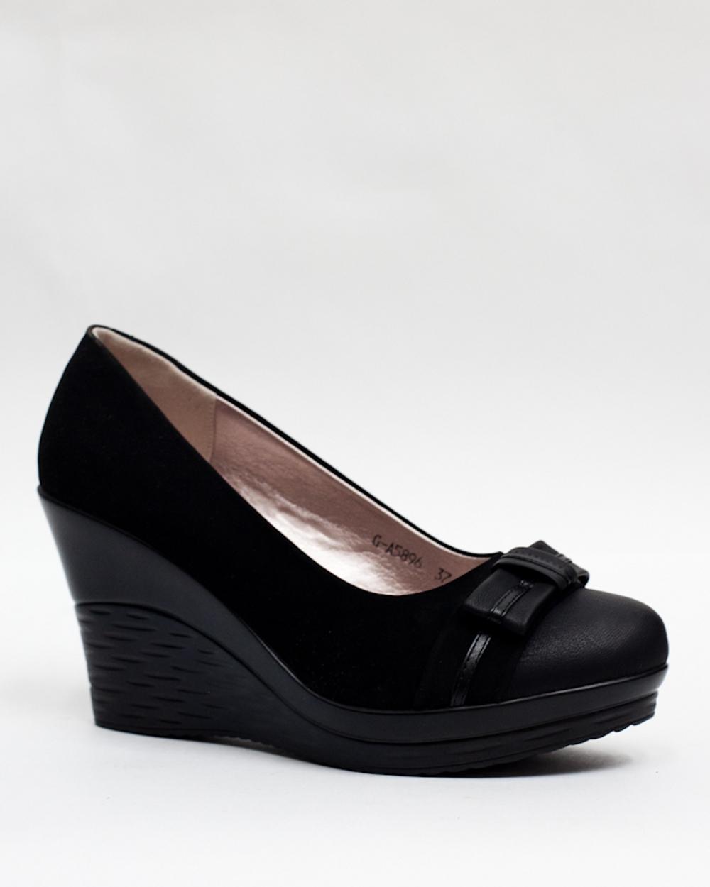 Туфли на высокой танкетке » Заказать обувь в